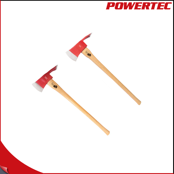 POWERTEC CHISEL AX WOODEN HANDLE HAND TOOL