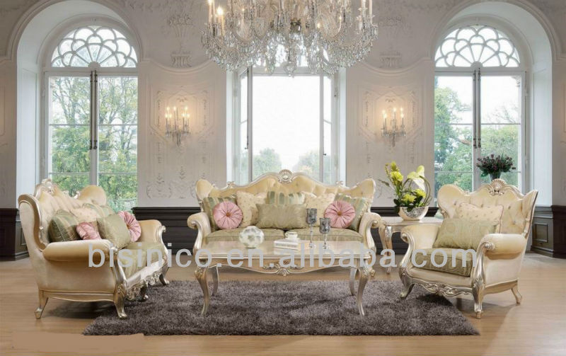 Luxury Living Room FurnitureAntique French Style Sofa Sets