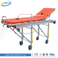 MINA-ST033 High-strength aluminum alloy loading stretcher patient transport