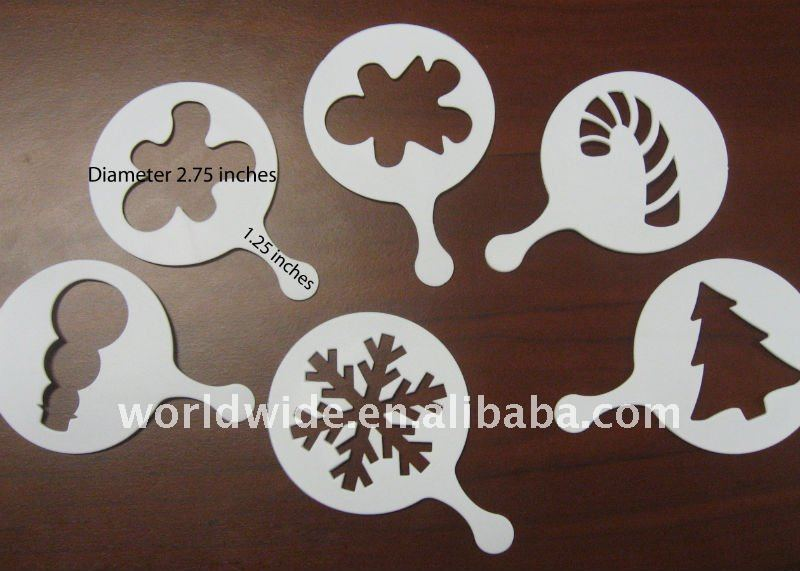 China supplier Custom Cappuccino decorating Coffee Stencil