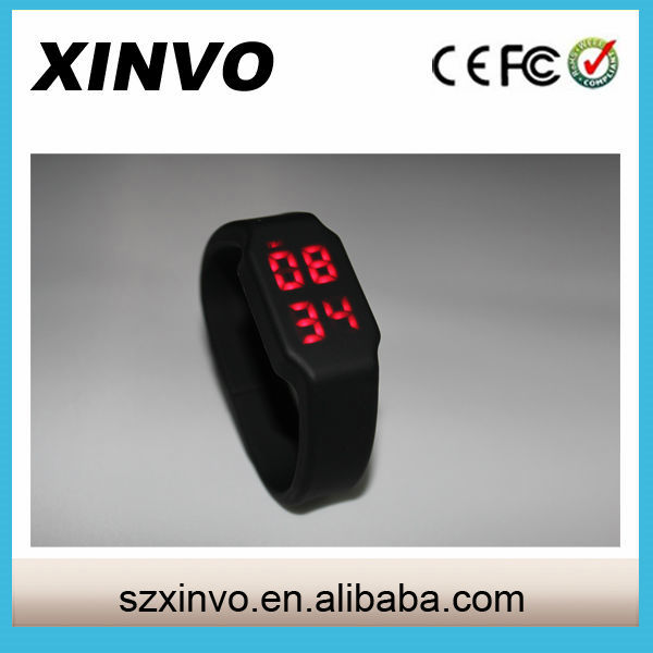 Real Capacity Silicone LED Watch USB With Silicone Wristband