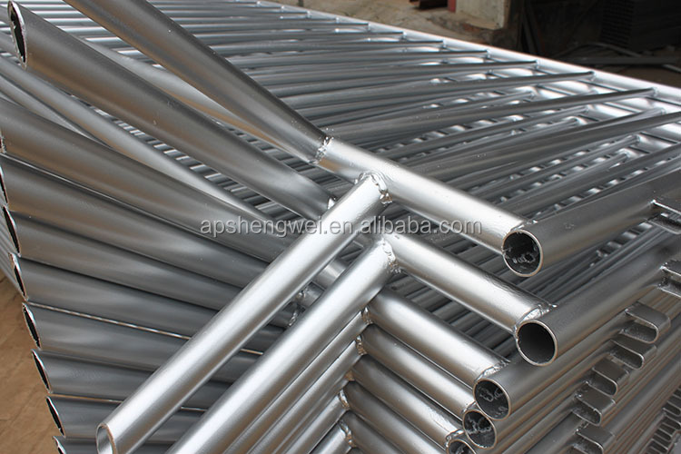 Hot galvanized steel metal road safety crowd control barrier