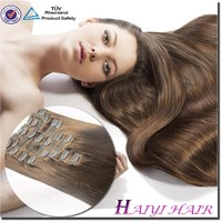 Top selling products in alibaba hair extension clip in Malaysian virgin clip in hair