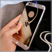 Fathion mirror custom tpu case for iphone 6/oem cheap bling phone case for iphone 6 for girl