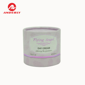 Biodegradable cosmetic packaging custom white cardboard cylinder box for facial cream paper tube