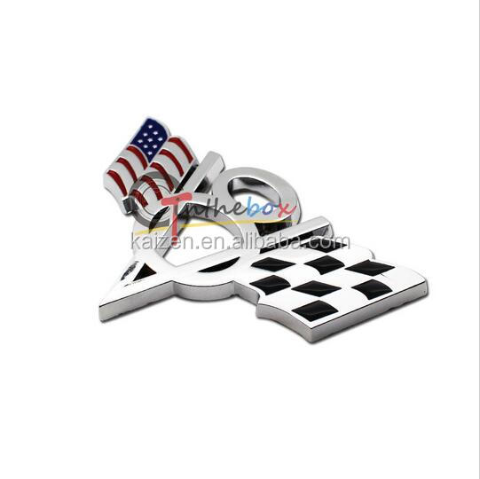 US USA America Flag V8 Emblem Sticker Universal Auto Car 3D Metal Badge Decal Fit for Ford Chevrolet