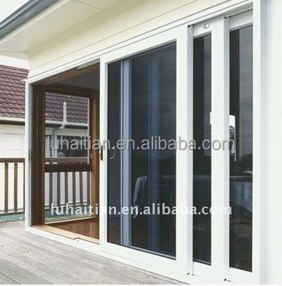 Morden type internal 3 glass PVC sliding door price