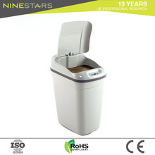 Wholesale Top Quality White Leather Waste Paper Bin
