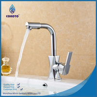 Durable chrome brass single handle kitchen faucet
