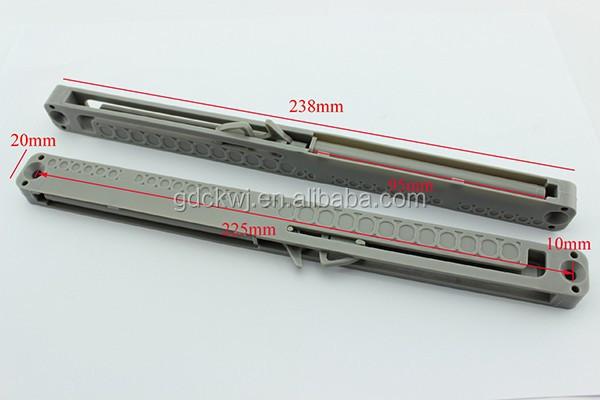 Furniture Hardware Plastic Shock Absorber Buffer System Soft Close Drawer Runner Drawer Slide