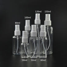 hot sale 30ml 1oz 50ml 60ml 2oz 100ml 120ml 3 oz 150ml PET plastic mist spray perfume bottles with cap