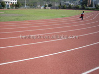Polyurethane resin binder for various athletic track