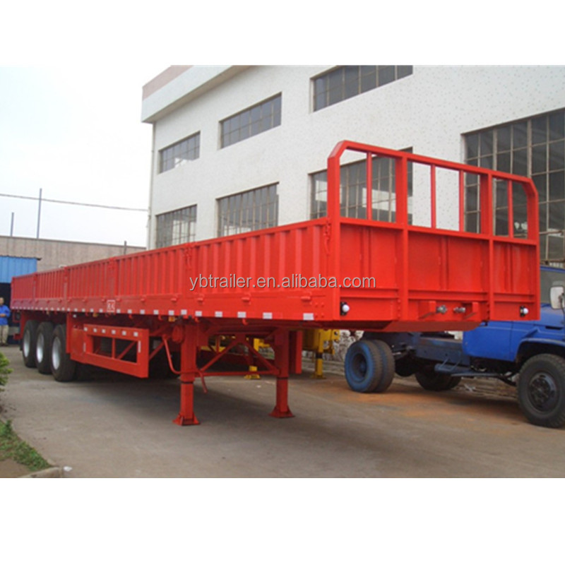 China high quality cheap price 3axles cargo side wall semi trailer