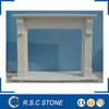Simple designed white marble fireplace mantel for sale