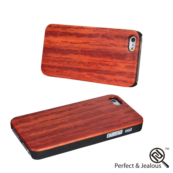 mobile phone accessories Real wood hand carved wood case for iphone 5