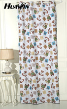 100% polyester print in blackout curtain fabric for baby room style