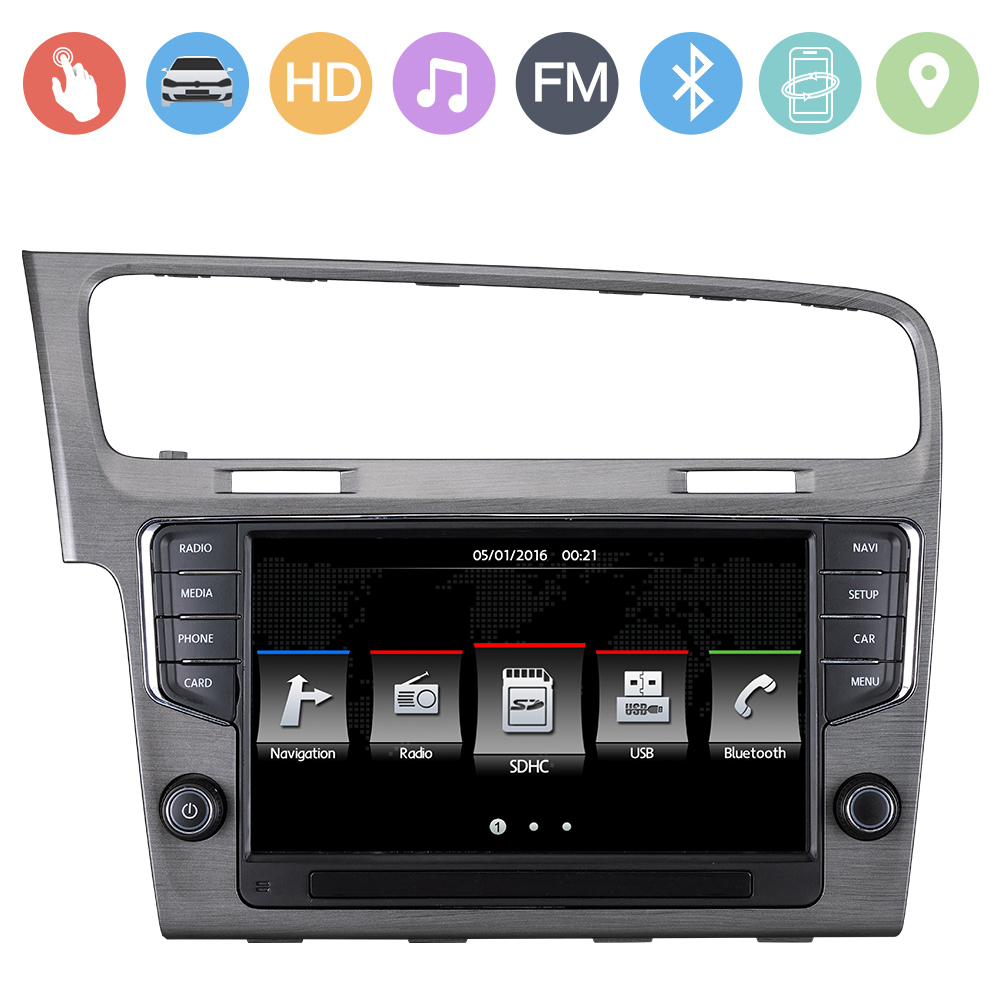 vw golf 7 Car DVD Player 9inch gps navigation for volkswagen golf 7 with MFD SWC IPAS OPS Radio RDS Lossess Music