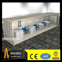 High Quality Foldable Office Prefabricated 20ft Container Houses