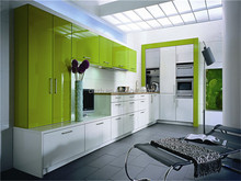 Modular High glossy Acrylic Lacquer kitchen cabinets