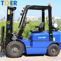 Hot sale mini 3.5 ton lpg|gasoline forklift truck
