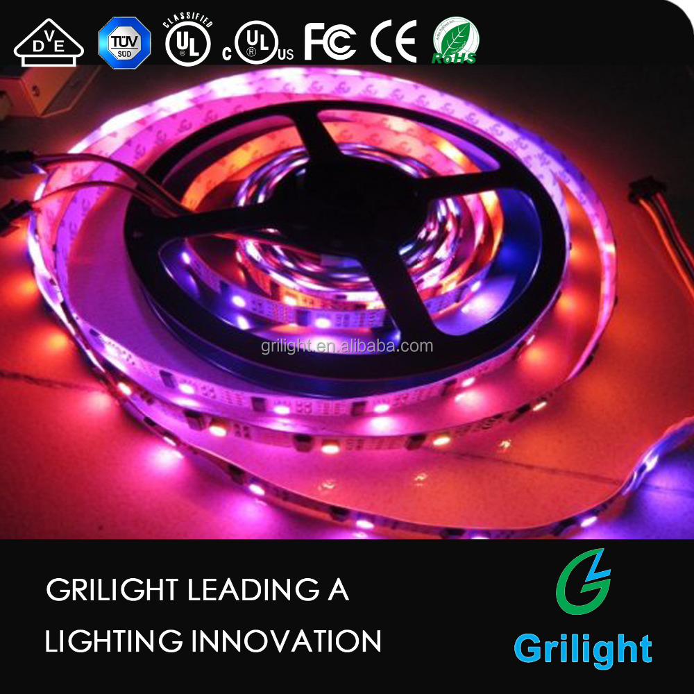 5m Lpd8806 LED Rgb Pixel Lights with 26IC/m Diffused Digital Led Strip Light