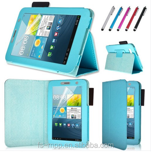 2015 new arrival !Leather Smart blue Case Cover Stand For Samsung Galaxy Tab 2 P3100