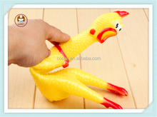Funny pet toys squeak chicken soft plastic chicken chew molar chicken dog toys