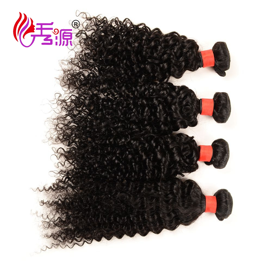 Jerry curly real human hair extension type and curly style top grade malaysian hair