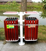 Good quality outdoor wood recycle bin with cheap factory price Guangzhou manufacturer