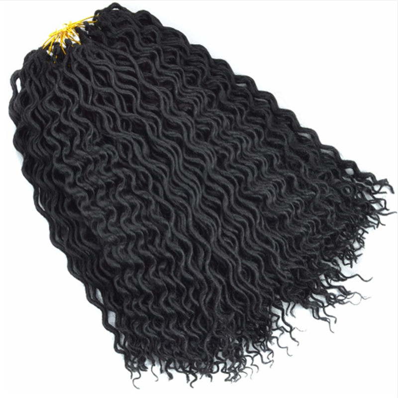 18Inches FauxLocs Curly Crochet Braids Synthetic Crochet Hair Extensions
