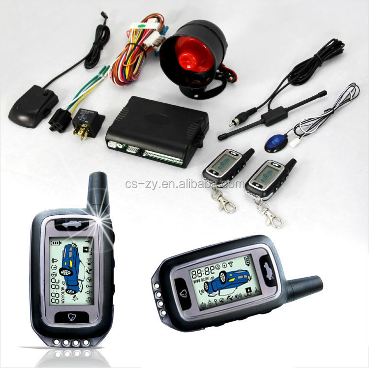 Two way motorcycle big size 2 LCD pager with metal frame