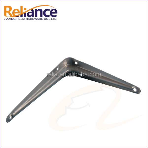 Black Deep Recess Wall Shelf Bracket
