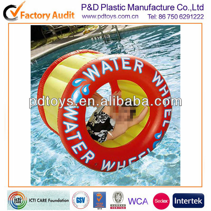 PVC inflatable water wheel for kids