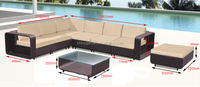 5 pcs rattan wicker garden leisure sofa set outdoor furniture