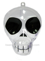 Fancy Skeleton Head Shaped Plastic Candy Container