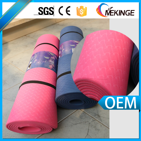 High performance eco friendly folding TPE exercise mat for yoga