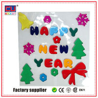 Happy New Year Gel Reflective Letter Stickers