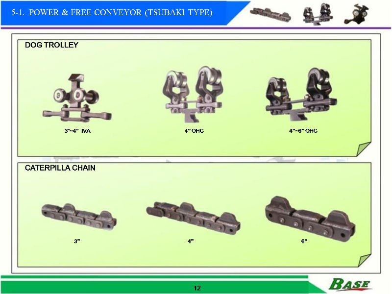 power and free conveyor Dog Trolley&Caterpiller chains