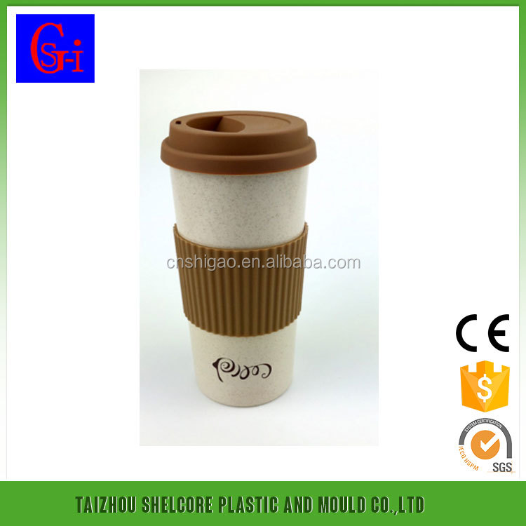 coffee cup biodegradable with silicone lid