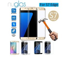Nuglass brand name 0.26mm 9H Mobile phone / Cell phone Tempered Glass Screen Guard for Samsung galaxy s7 edg