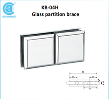 KB-04H 180 Degree Spain Zinc Glass Decorative Partition Braces