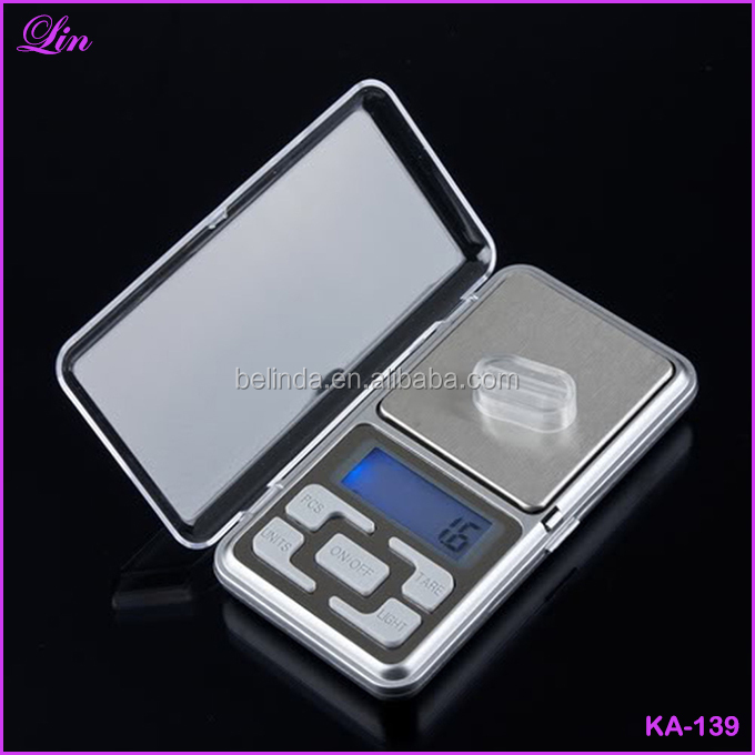 Free Shipping by DHL/FEDEX/SF 500g 0.1g Digital Pocket Weight Jewelry Diomand Balance Mini electronic <strong>scale</strong>