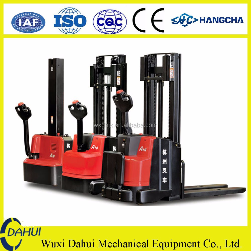 hangcha 1 ton mini forklift Electric stacker for sale in stock