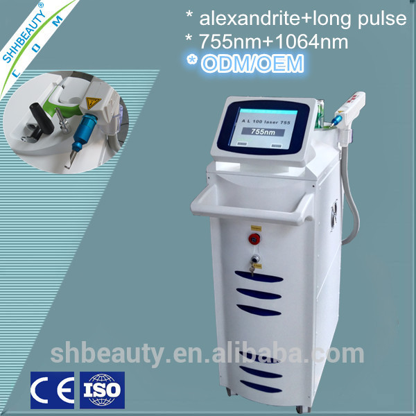 Different types of laser hair removal machines/laser hair removal/Alexandrite 755nm with 1064nm nd yag laser skin
