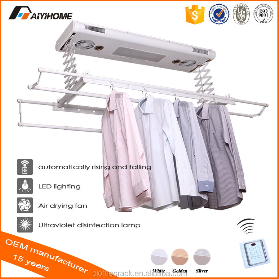 Ceiling Type Electric Garment Dryer, automatic aviation aluminum Hanger