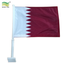 30x45cm High Quality Qatar car window flag (NF08F06032)