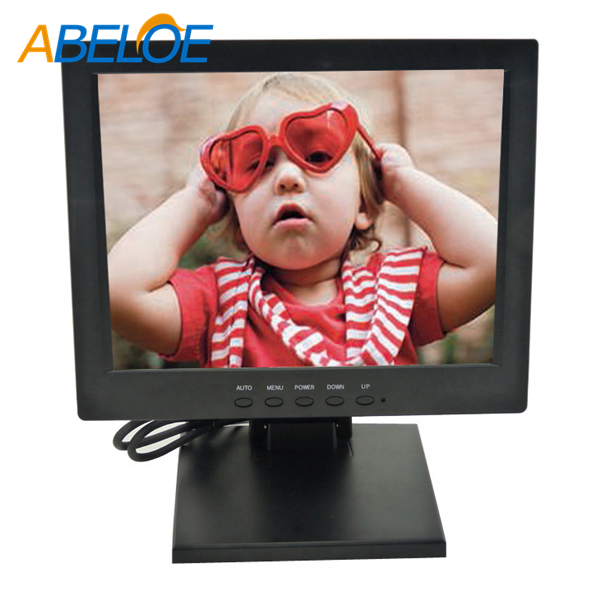 Glossy Black housing 4:3 square screen vga av tv input 10.4 inch USB-Powered Portable LcD Monitor