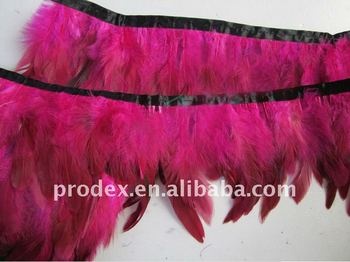 Saddle Hackle Feather Fringe,feather dress,