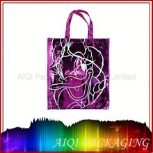 Eco-friendly stamping logo non woven die cut handle bags& AIQI bag