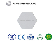 200*230mm/ 8''*9'' encaustic clay floor and wall ceramic mosaic hexagon tiles grey